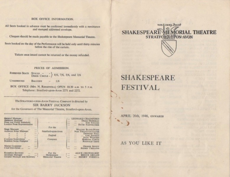 1946-Shakespeare-festival-As-You-Like-It-1