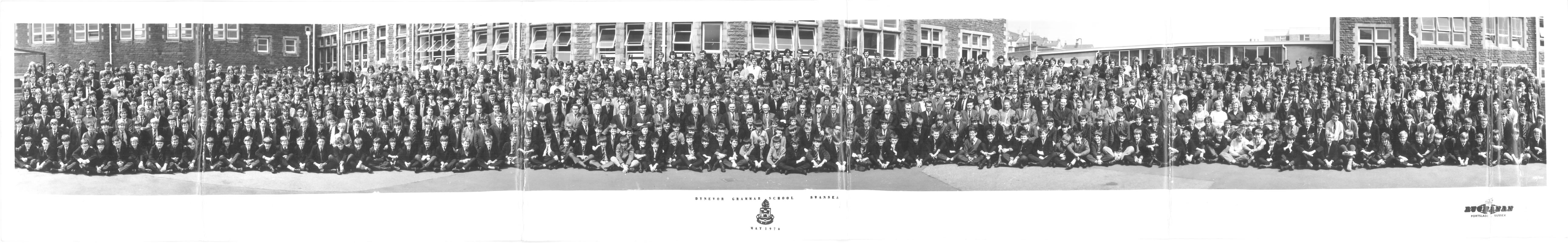 1970 School Photo panorama