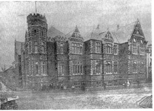 A photograph of the 1894 building taken from the 75th anniversary number of the magazine