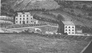 Thomas Rothwell's 1791 engraving of Mount Pleasant, showing the site of the school
